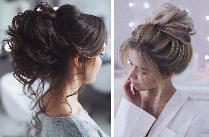 2019 Dağınık Topuz Saç Modelleri