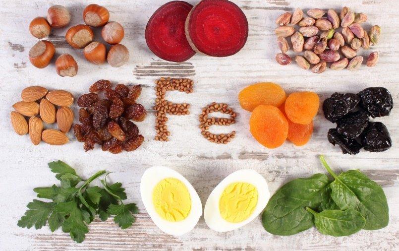 Demir eksikliği için faydalı besinler