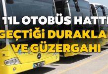 11L Bulgurlu Mahallesi Üsküdar otobüs saatleri ve geçtiği duraklar