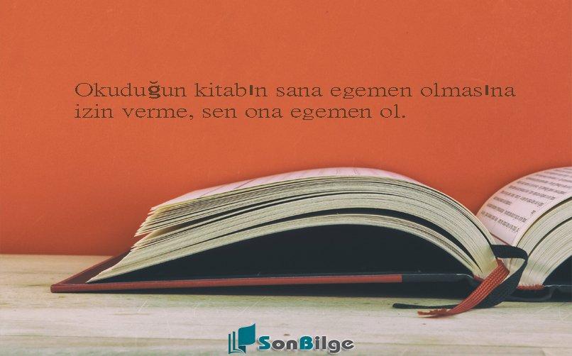 Okumakla ilgili etkili sözler