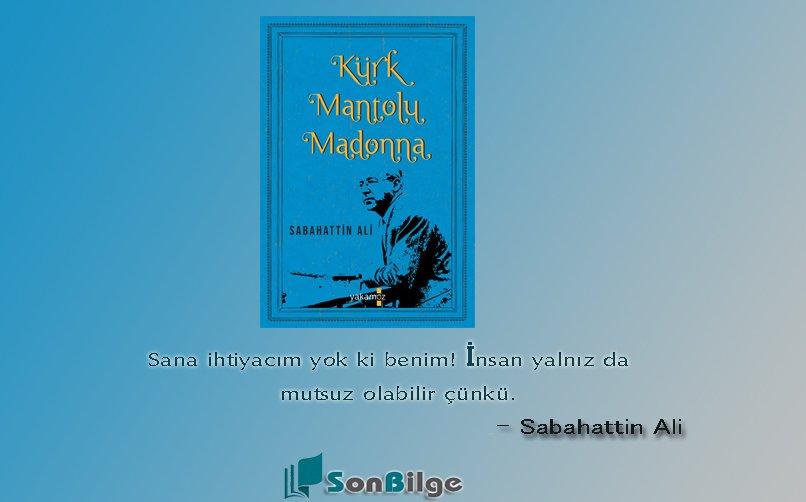 Kürk mantolu madonna Sabahattin ali yakamoz yayınları