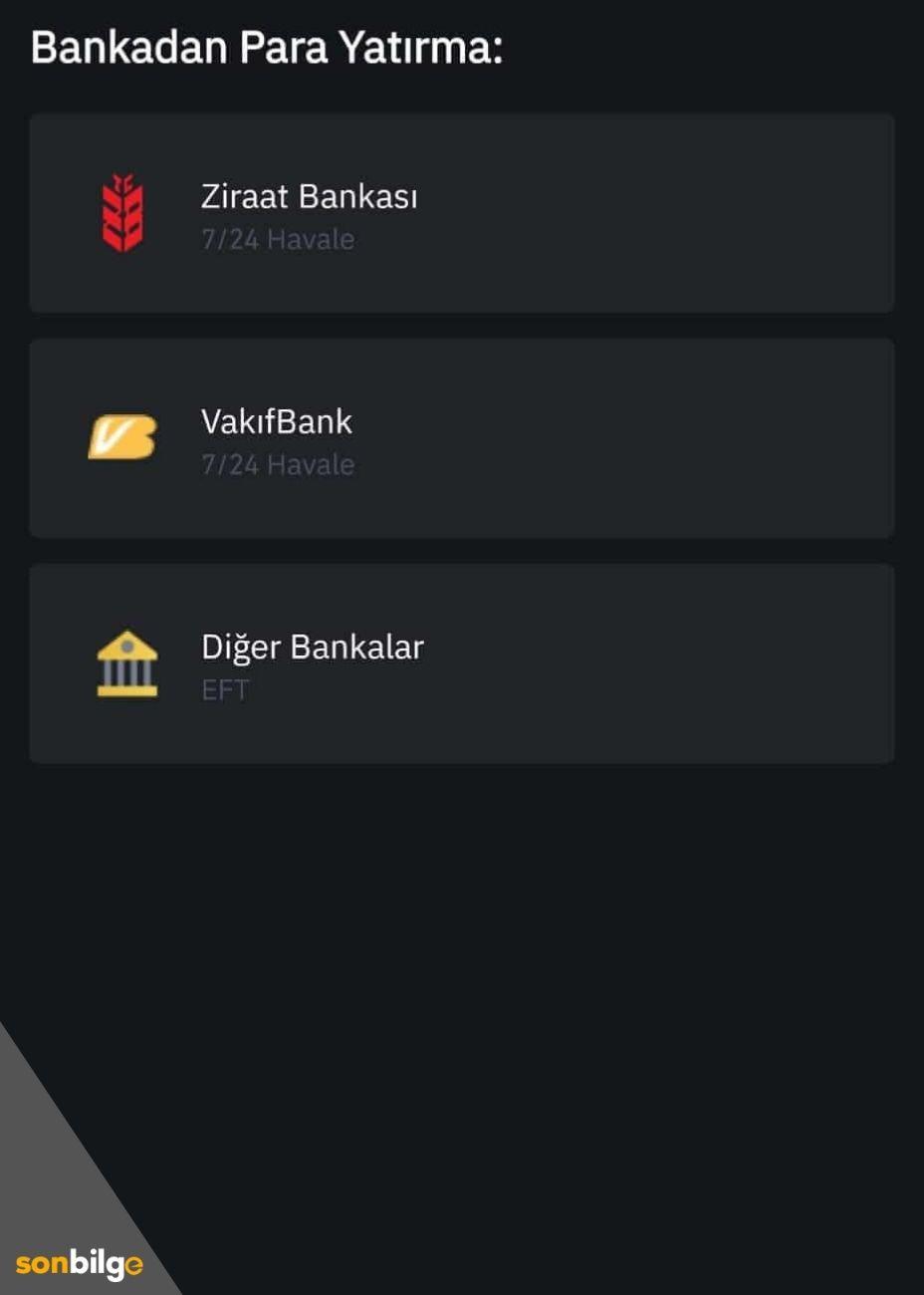 Banka Seçimi